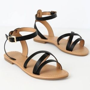 Brand new Black Sandals from LULUS